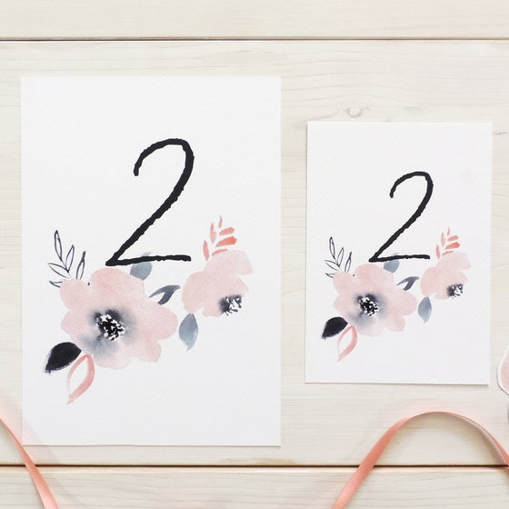 Image of Sweet Posey Table Number