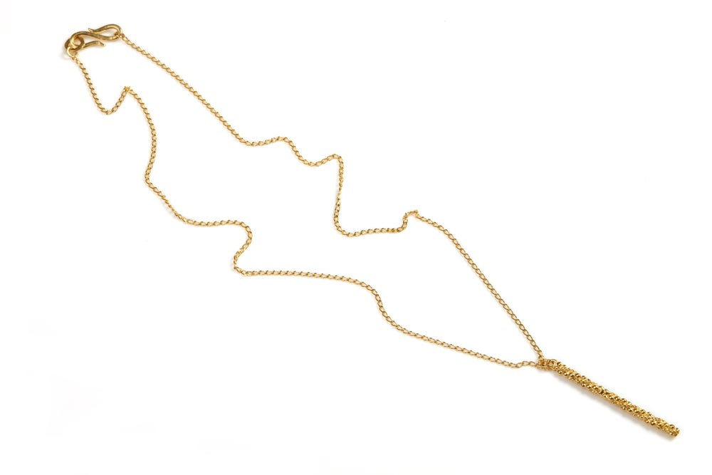 Image of Stark long bar necklace
