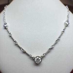 Image of 14K White Gold Eternity Necklace