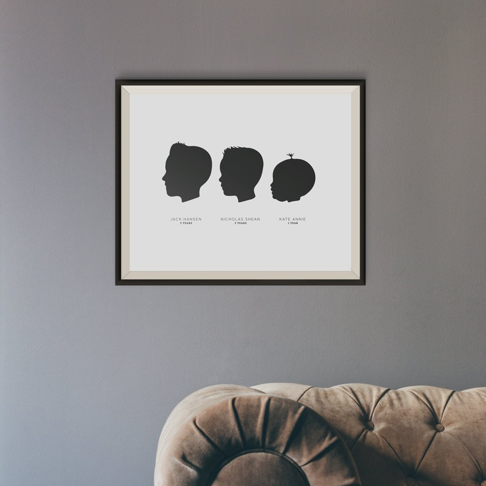 Image of Family Portrait Silhouette Kit