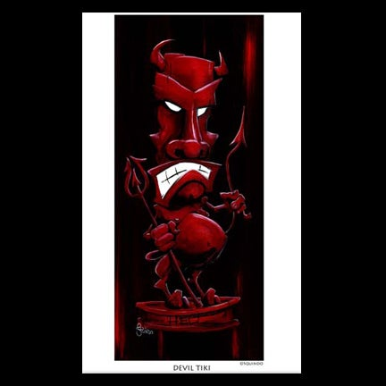 Image of Devil Tiki Art Print