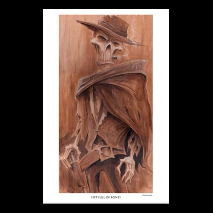 Image of Fistful of Bones Art Print