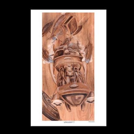 Image of UNLUCKY 7 ART PRINT