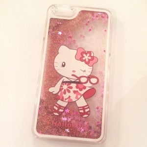 Image of Hello Kitty Glitter iPhone 6/iPhone 6 plus Case