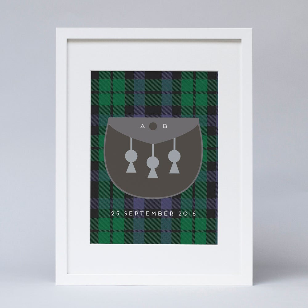 Image of Personalised tartan kilt (Print)