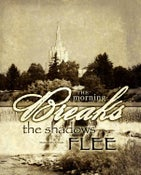 Image of The Shadows Flee: Idaho Falls Idaho LDS Mormon Temple Art