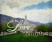 Image of I Love To See The Temple: Mt Timpanogos Utah LDS Mormon Temple Art