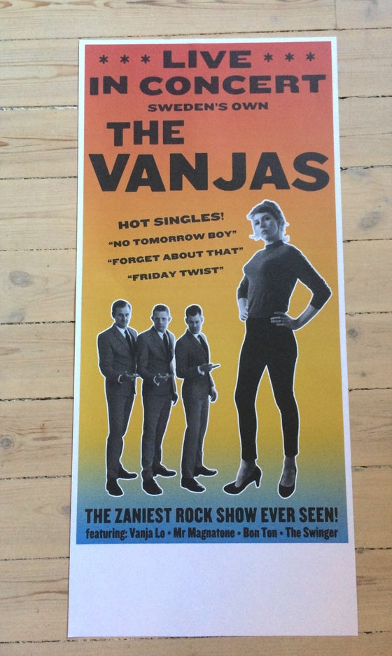"Image of The Vanjas Poster - ""In Concert"" - NEW!!!!"