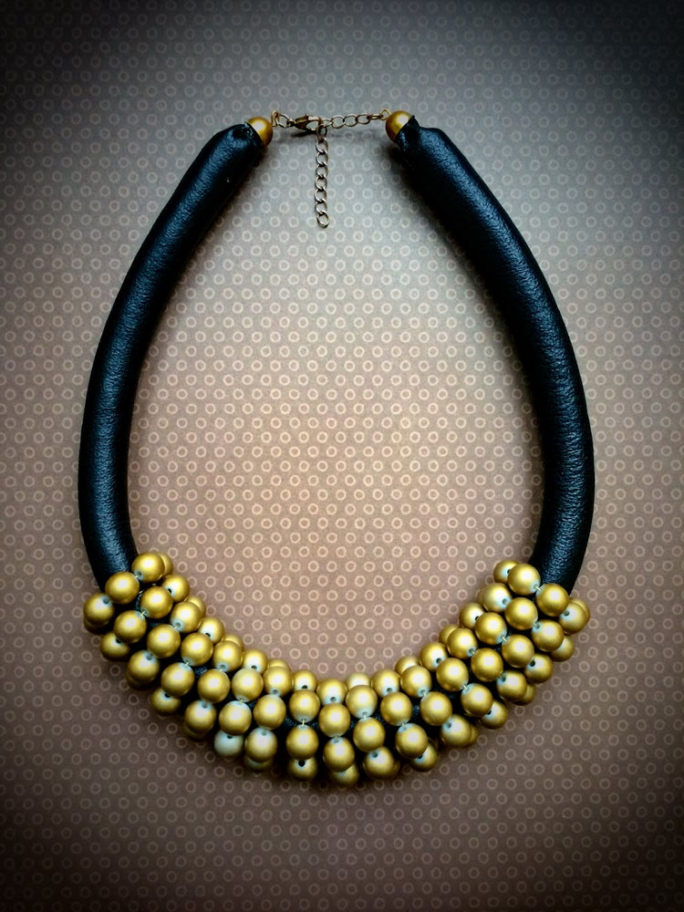 Image of Irene Chunky Leather Necklace