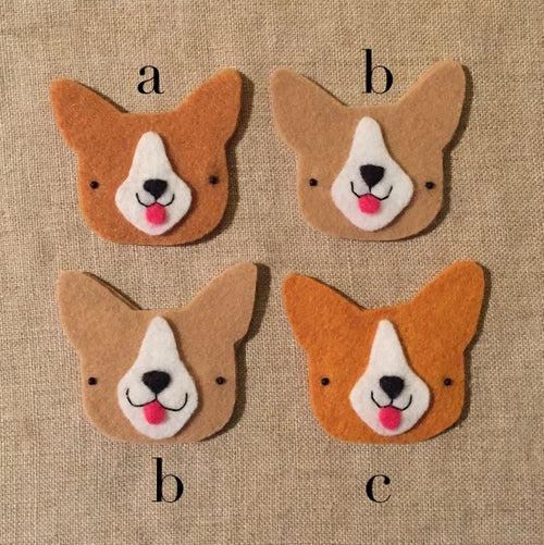 Image of boston terrier + corgi brooches! (made to order)