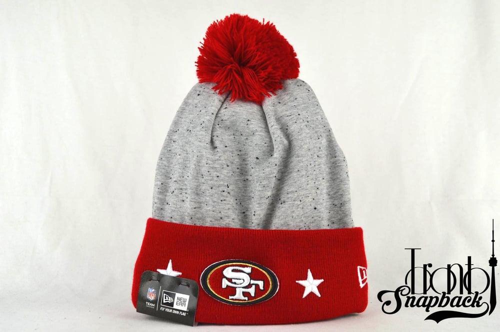 Image of SAN FRANCISCO 49ERS NFL HEATHER SPEC NEW ERA BEANIE