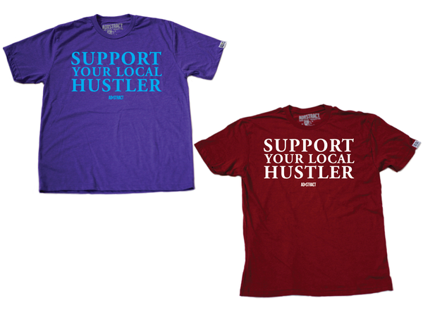 "Image of SUPPORT YOUR LOCAL HUSTLER ""HORNETS/MAROON"" TSHIRT"