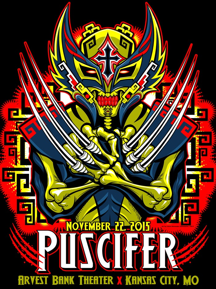 Puscifer Gig Poster Band Edition