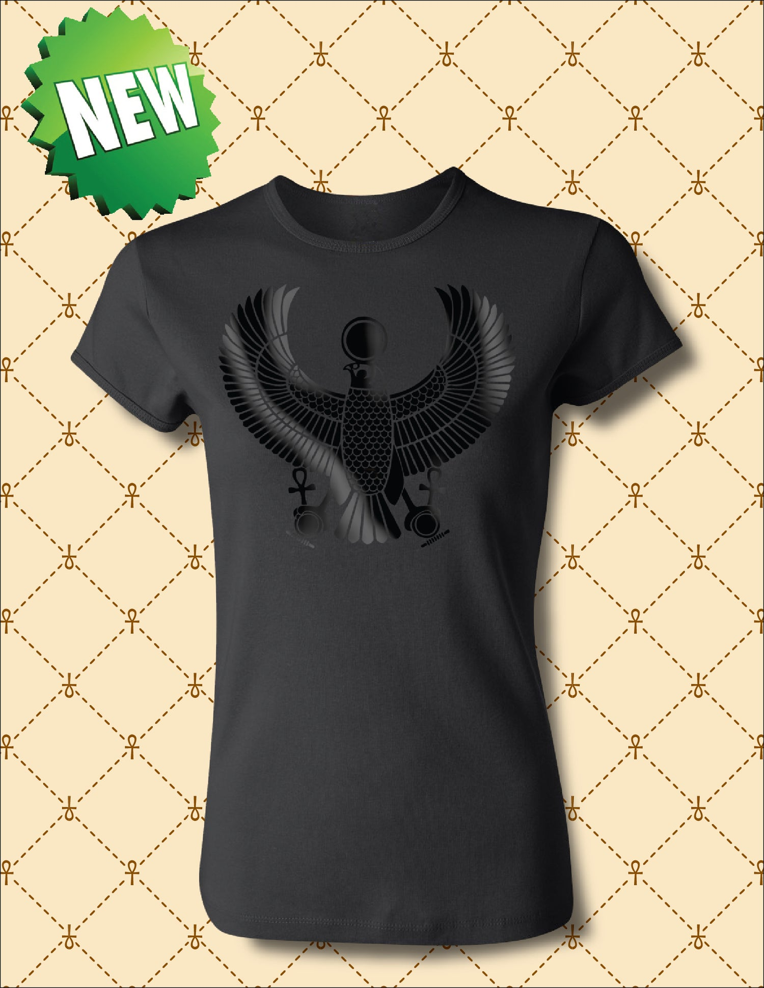 "Image of WOMEN""S BLACK FOIL HRU TSHIRT"