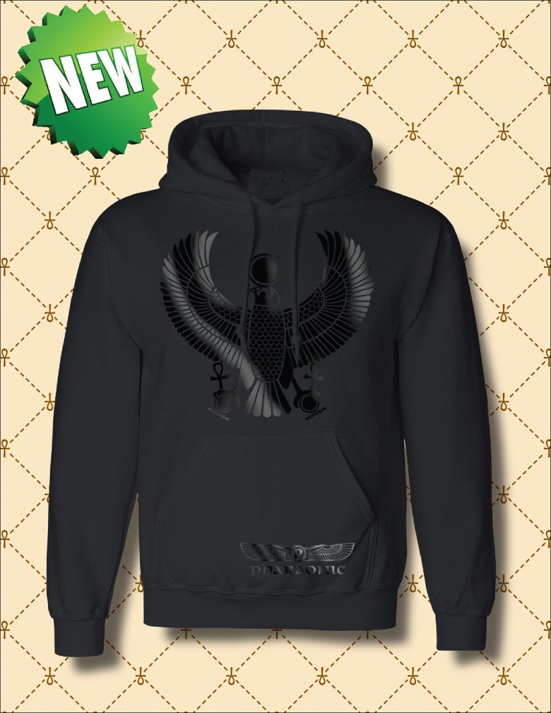 Image of MEN'S/WOMEN'S BLACK FOIL HRU PULL OVER HOODIE