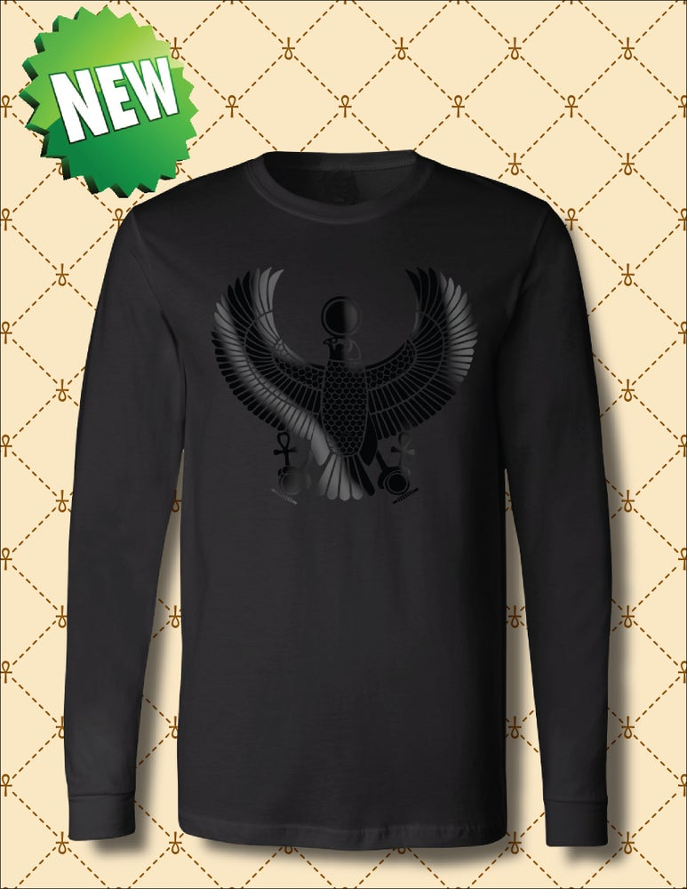 Image of MEN'S BLACK FOIL HRU  LONG SLEEVE TSHIRT