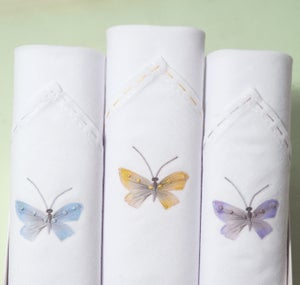 Image of Ladies hankies: Butterflies set