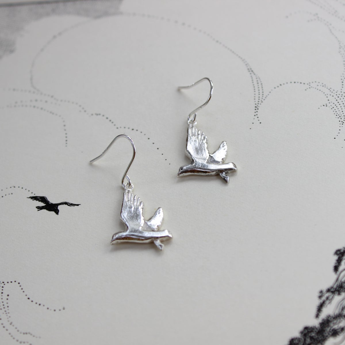 Image of seagull earrings