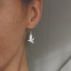 Image of seagull earrings