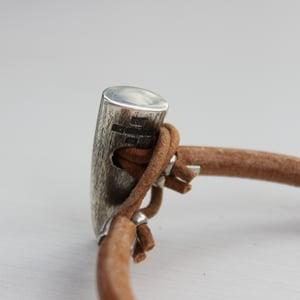 Image of men's silver toggle bracelet, natural