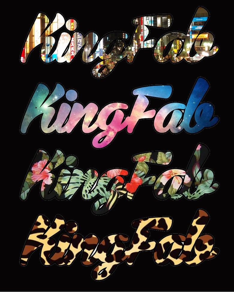 Image of KingFab Script Stickers