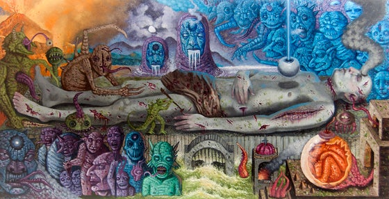 """Image of """"Final Cessation of Birth/ Death"""" 13""""x25"""" Limited Edition Giclée Print"""
