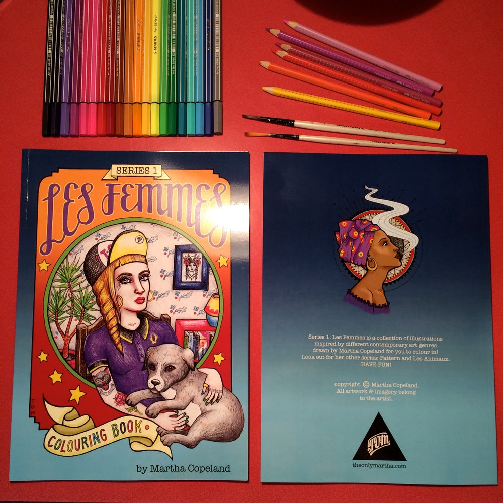 Image of Les Femmes colouring book.