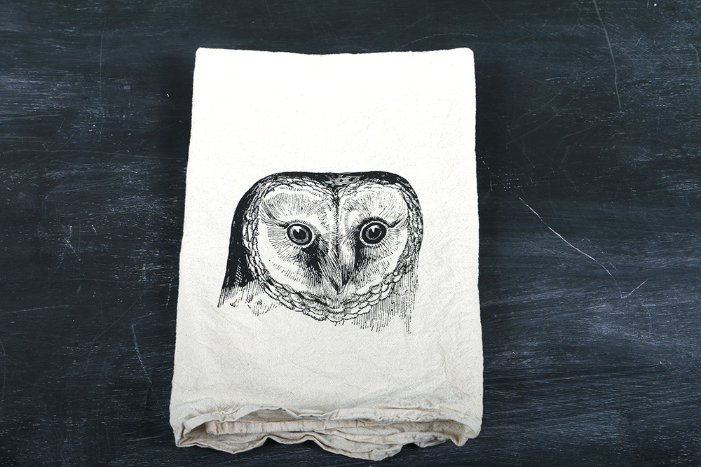 Image of Owl, Blackbird, and Swallow Tea Towels