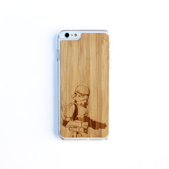 Image of TIMBER Wood Skin Case (iPhone, Samsung Galaxy) : Storm Trooper Edition