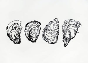 Image of Four oysters Print