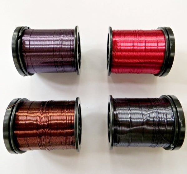 Image of Coloured enamelled copper jewellery wire - 0.25mm wire reel 35grams
