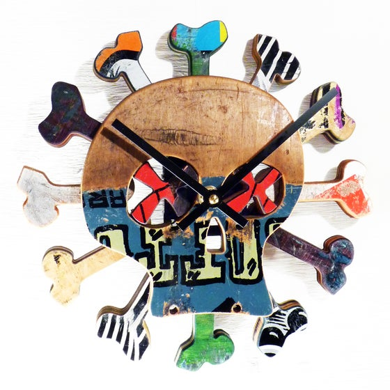 "Image of ""Boneless"" Skateboard Clock by Deckstool."