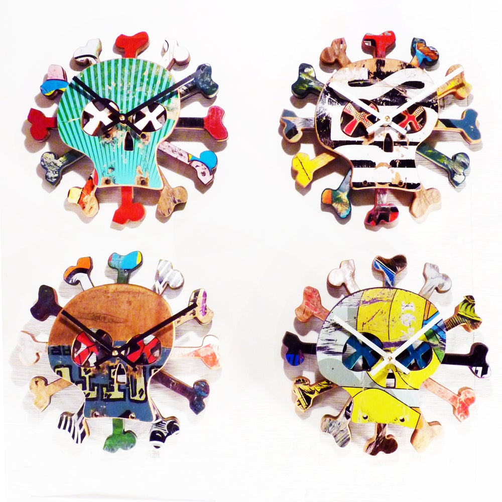 "Image of ""Boneless"" Skateboard Clock by Deckstool."