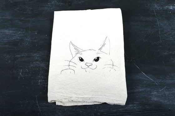 Image of Curious Kitty Tea Towel