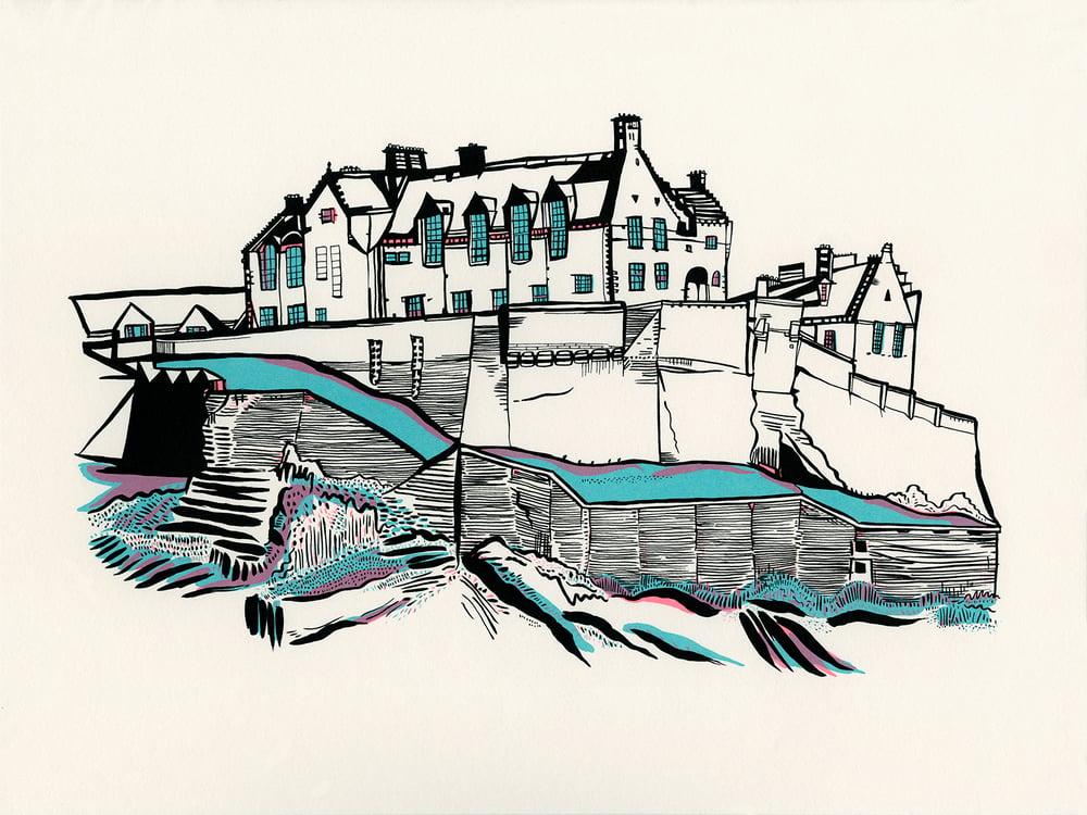Image of Edinburgh Castle screen_print