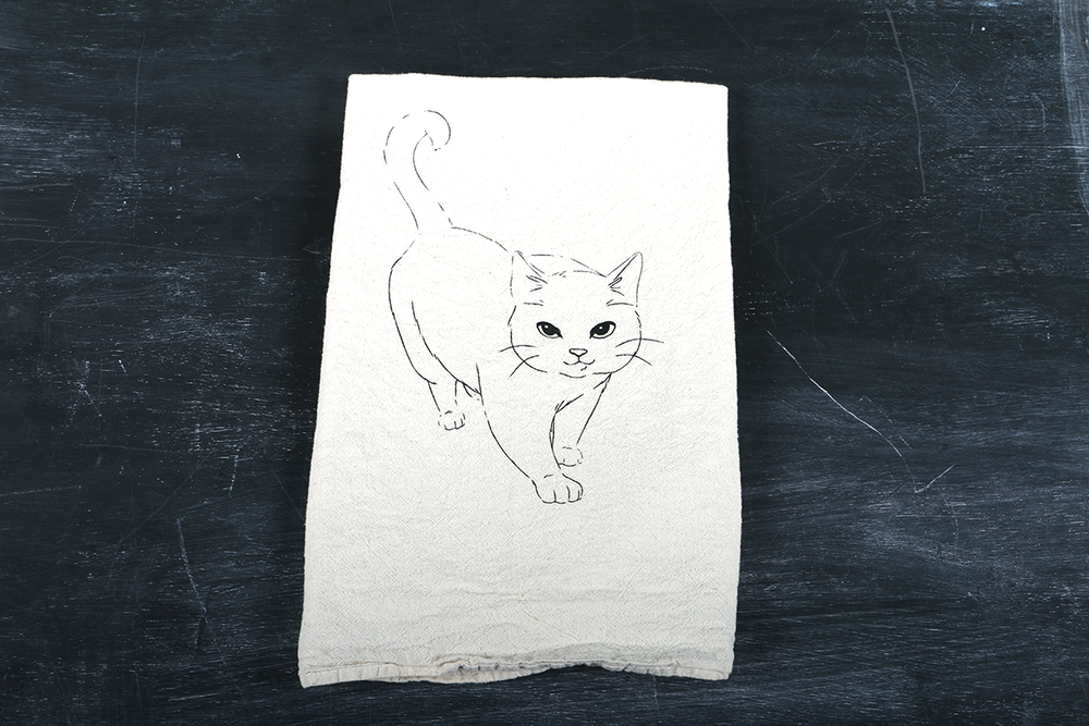 Image of Cat Tea Towel Set