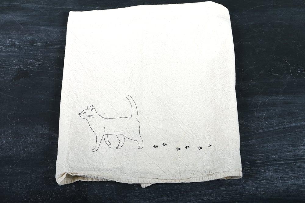 Image of Cat Walk Tea Towel