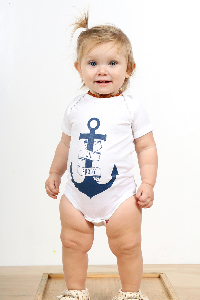 Image of Lil' Rhody Anchor Baby Onesie