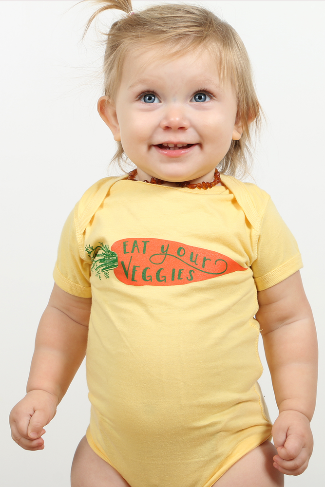 Image of Eat Your Veggies Baby Onesie