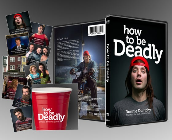 Image of How to Be Deadly DVD + Free Drinking Game* (While supplies last!)