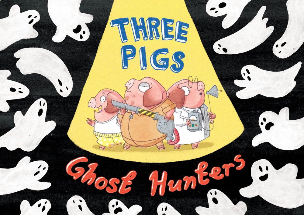 Image of Three Pigs Ghost Hunters - limited edition print