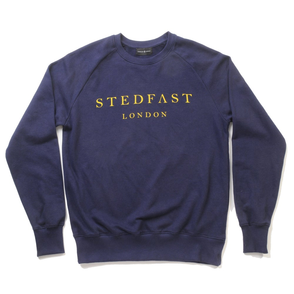 Image of Mens Stedfast Navy Sweatshirt