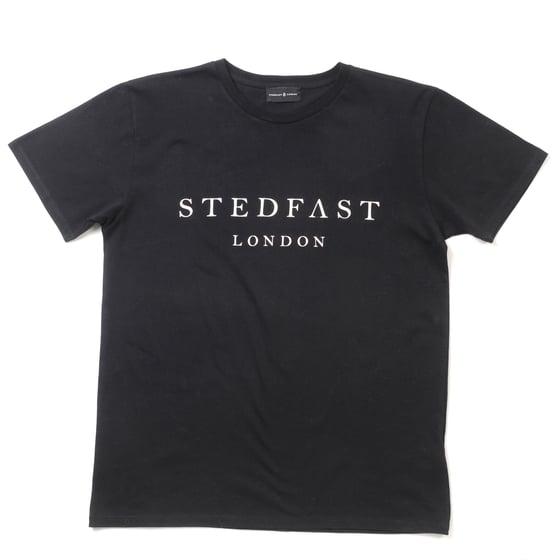Image of Mens Stedfast London black T-shirt