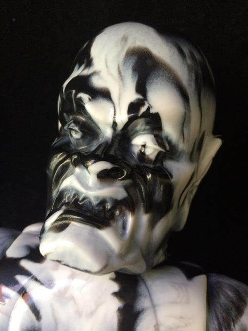 Image of The Iron Monster Marbled Black/ White