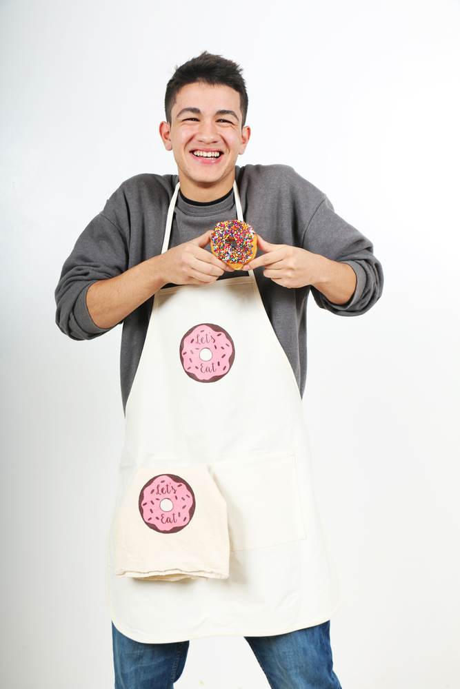 Image of Let's Eat Apron and Tea Towel Set