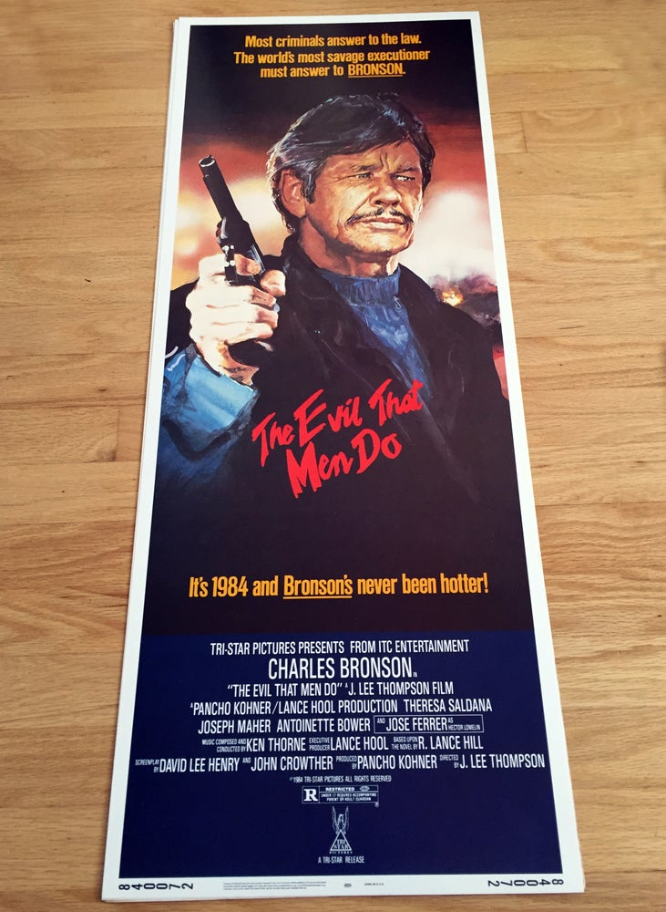 Image of 1984 THE EVIL THAT MEN DO Original U.S. Insert Movie Poster