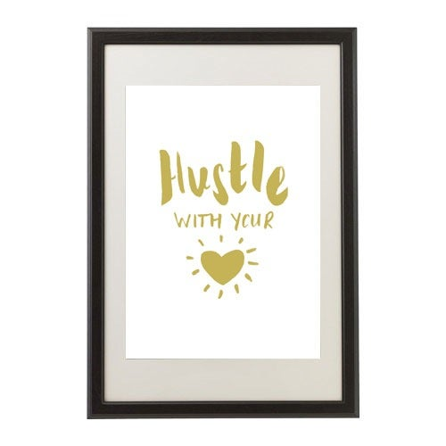 Image of Hustle With Your Heart (gold)
