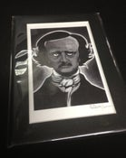 "Image of Edgar Allan Poe - Signed Mini Print with Black Mat, 5""x7"""