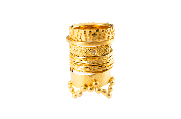 Image of Perles de pluie, Ring in Fairmined gold 18k