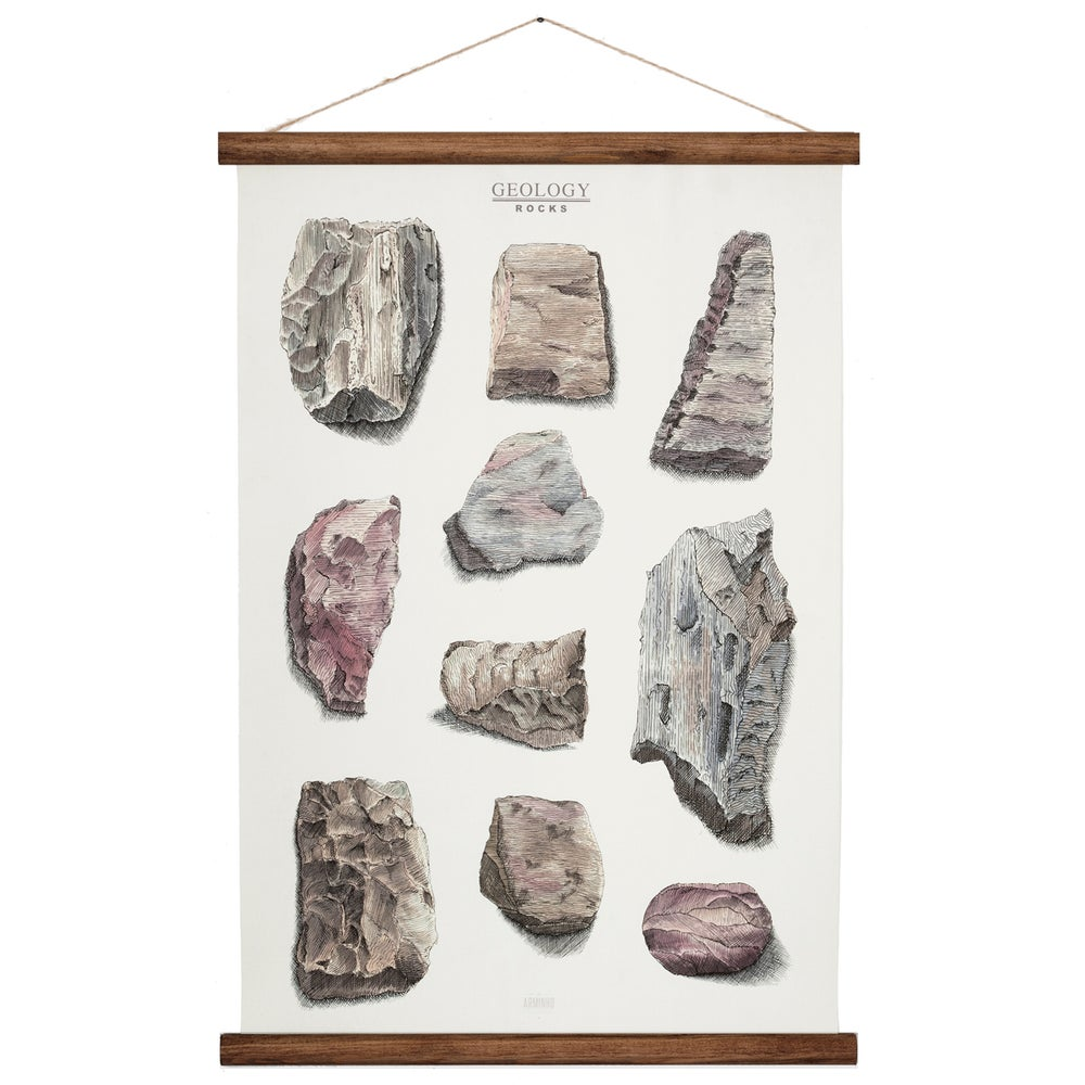 Image of rocks - geology chart